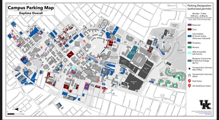 Free Parking at The University of Kentucky